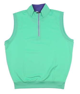 New Mens Fairway & Greene 1/4 Zip Golf Vest Large L Green MSRP $95