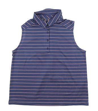 New Womens Under Armour Golf Sleeveless Polo Medium M Blue Ink MSRP $60 UW0481