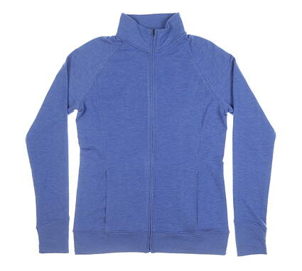 New Womens Under Armour Golf Full Zip Mock Neck Medium M Blue MSRP $100