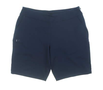 New Womens Under Armour Golf Shorts Medium M Blue MSRP $75