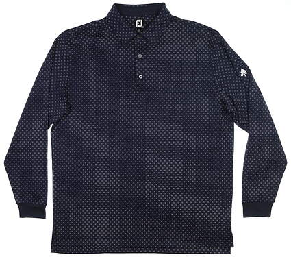New W/ Logo Mens Footjoy Thermolite Long Sleeve Polo X-Large XL Navy MSRP $92 26042