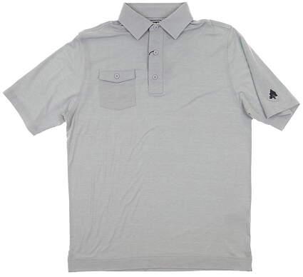 New W/ Logo Mens Footjoy Spun Poly Polo Medium M Gray MSRP $75 22846