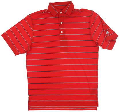 New W/ Logo Mens Footjoy Spun Poly Polo Medium M Red MSRP $78 25510