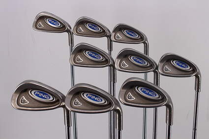 Ping i5 Iron Set 4-PW GW SW Ping Z-Z65 Steel Stiff Right Handed Green Dot 38.5in