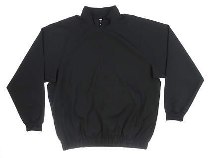 New Mens Footjoy 1/4 Zip Wind Pullover Large L Black MSRP $100