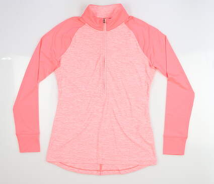 New Womens Under Armour 1/2 Zip Pullover Small S Pink MSRP $80