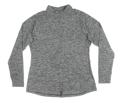 New Womens Under Armour 1/2 Zip Pullover X-Large XL Gray MSRP $80
