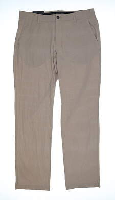 New Mens Under Armour Golf Pants 36x32 Tan MSRP $85