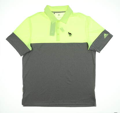 New W/ Logo Mens Adidas Polo Large L Multi MSRP $80 DQ2225