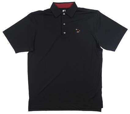 New W/ Logo Mens Footjoy Polo Medium M Black MSRP $90 32980