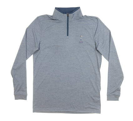 New W/ Logo Mens Under Armour 1/4 Zip Pullover Small S Blue MSRP $85