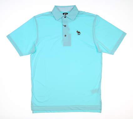 New W/ Logo Mens Footjoy Polo Small S Blue MSRP $90 25569