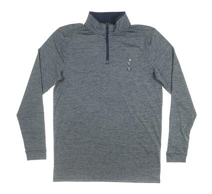New W/ Logo Mens Under Armour 1/4 Zip Pullover Small S Navy Blue MSRP $85