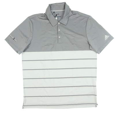 New W/ Logo Mens Adidas Ultimate 365 Golf Polo Large L Gray MSRP $80 CX6916