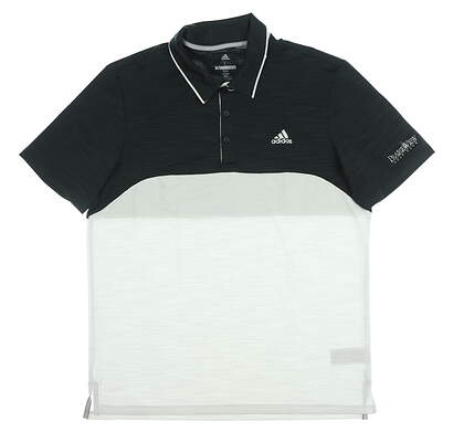 New W/ Logo Mens Adidas Ultimate 365 Golf Polo Large L Multi MSRP $65 CD3354