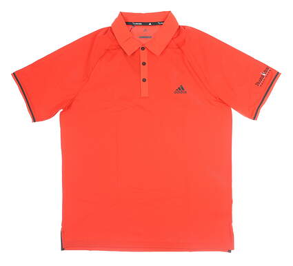 New W/ Logo Mens Adidas Golf Polo Large L Red MSRP $65 CZ0965