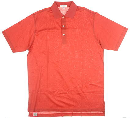 New Mens Peter Millar Golf Polo Large L Red MSRP $95