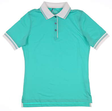 New Womens Peter Millar Golf Polo X-Small XS Green MSRP $79 LF17EK10
