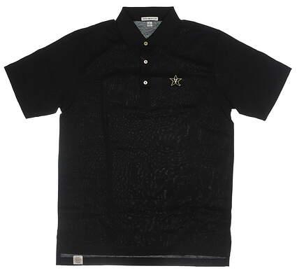 New W/ Logo Mens Peter Millar Golf Polo Medium M Black MSRP $89 MC0K01