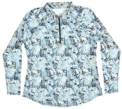 New Womens Jo Fit Golf 1/4 Zip Pullover Small S Multi MSRP $80 UT109 MGL