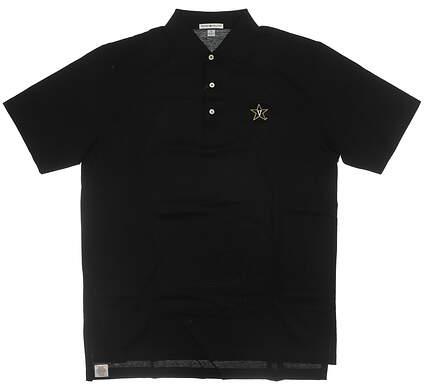 New W/ Logo Mens Peter Millar Golf Polo Medium M Black MSRP $89 MC00K01