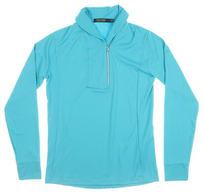 New Womens Ralph Lauren 1/4 Zip Pullover Small S Blue MSRP $125 281616589002