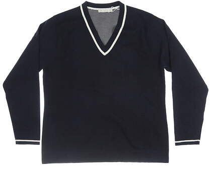 New Womens Peter Millar Sweater X-Large XL Navy Blue MSRP $130 LF18S01