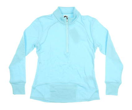 New Womens Footjoy 1/2 Zip Sweater Small S Bluefish MSRP $130 25472