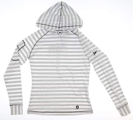 New W/ Logo Womens Footjoy Pullover Hoody X-Small XS White MSRP $130 27591