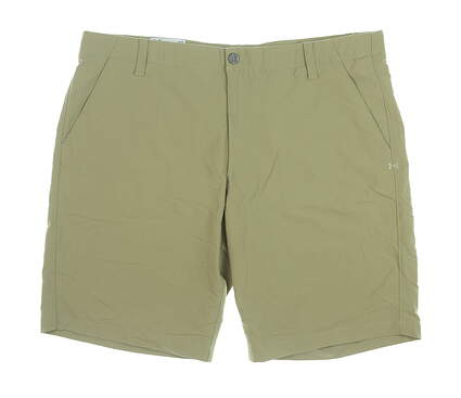 New Mens Under Armour Golf Shorts 40 Khaki MSRP $75 UM8890