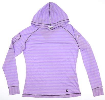 New W/ Logo Womens Footjoy Pullover Hoody Small S Orchid MSRP $130 27590