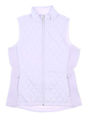 New Womens Straight Down Laurel Vest Small S Lilac MSRP $104 W10134