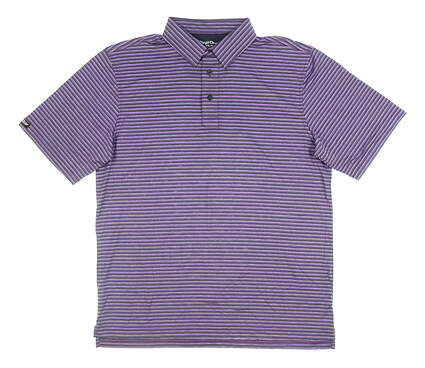 New Mens Straight Down Labes Golf Polo Large L Purple MSRP $80 14602