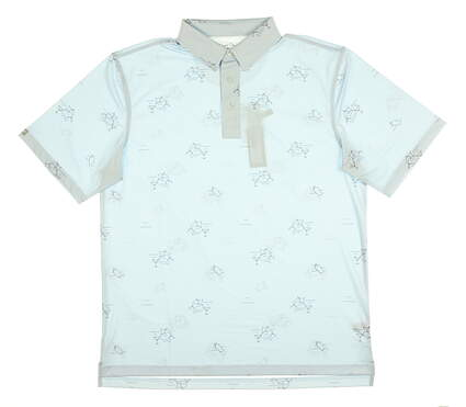 New Mens Straight Down Jig Golf Polo Large L Blue MSRP $84 14726