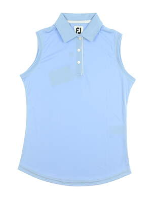 New Womens Footjoy Sleeveless Golf Polo X-Small XS Blue MSRP $65 27075