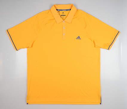 New Mens Adidas Golf Polo X-Large XL Orange MSRP $75 CZ0964