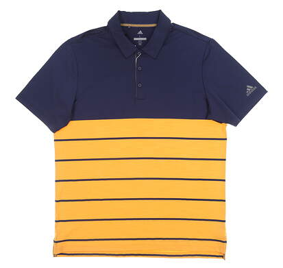 New Mens Adidas Ultimate 365 Polo Small S Navy/Orange MSRP $80 CD3385