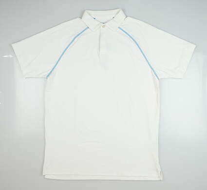 New Mens Peter Millar Amsterdam Polo Small S White MSRP $85 MS18EK98A