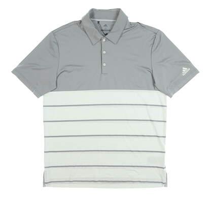 New Mens Adidas Golf Polo Medium M Gray MSRP $90 CX6916
