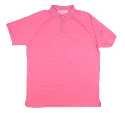 New Mens Peter Millar Golf Polo Large L Pink MSRP $95 MS18EK98