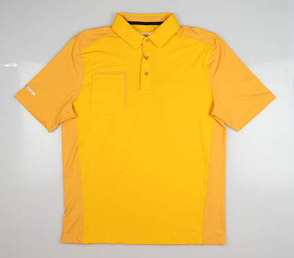 New Mens SUNICE Ethan Coollite Polo Large L Orange MSRP $80 841023