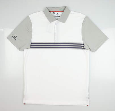 New Mens Adidas Golf Polo Small S Multi MSRP $80