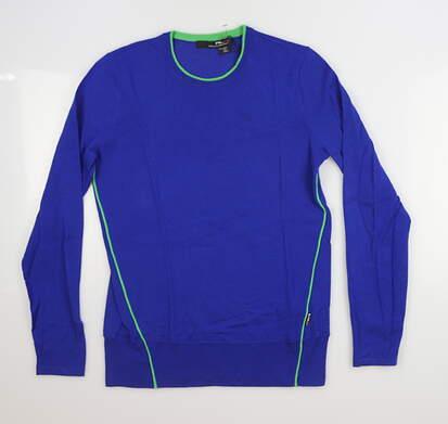 New Womens Ralph Lauren RLX Golf Sweater Large L Blue MSRP $185