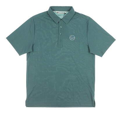 New W/ Logo Mens Travis Mathew Golf Polo Medium M Green MSRP $70
