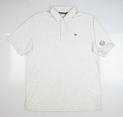 New W/ Logo Mens Travis Mathew Golf Polo Small S Gray MSRP $80