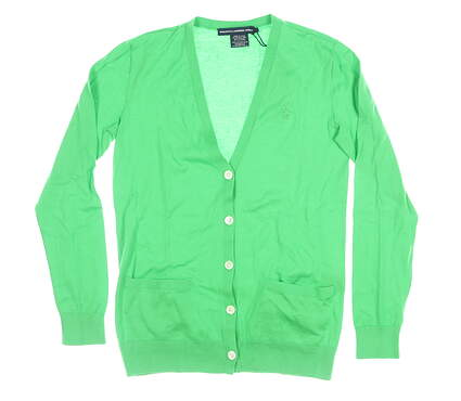 New Womens Ralph Lauren Cardigan Sweater Small S Green MSRP $200