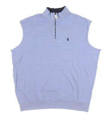 New Mens Ralph Lauren 1/4 Zip Vest X-Large XL Blue MSRP $100
