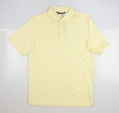 New W/ Logo Mens Travis Mathew Golf Polo Small S Yellow MSRP $70
