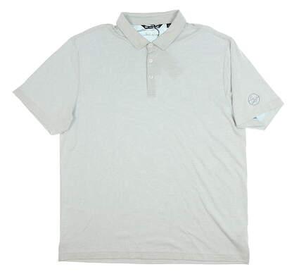 New W/ Logo Mens Travis Mathew Golf Polo XX-Large XXL Gray MSRP $80