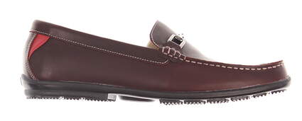 New Mens Golf Shoe Footjoy Club Casuals Wide 10.5 Red Wood MSRP $160 79019